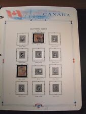 Canada Stamp Old Album Page Scott# 14,15 Beaver & Queen Victoria 1859 C239