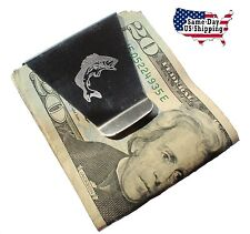 New Slim Double Sided Money Clip With Large Mouth Bass