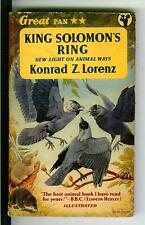 KING SOLOMON'S RING by Lorenz, rare British Pan vintage pb, wildlife & animals
