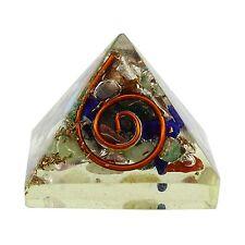 Multi-Stone Orgonite Pyramid Healing Generator Gemstones Orgone Reiki Chakra