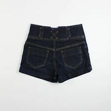 Miss Selfridge Womens Size 8 Blue Denim Shorts Hot Pants