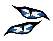 Par De Mal Ojos Escocia Escocés Bandera Coche Moto Casco Pegatina 70x30mm EA