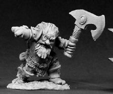 Dwarf Barbarian Reaper Miniatures Dark Heaven Legends Warrior Fighter Melee Axe