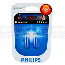 Philips Blue Vision W5W Bulbs 501 T10 Car Side Light Interior Performance Bulbs