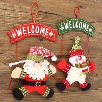 Christmas Santa Snowman Tree Ornaments Decorations Hanging Pendant Xmas Gifts