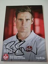 Bastian Becker, Kaiserslautern, Fußball, original Autogramm