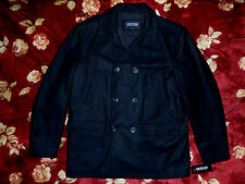 $265 GUESS Mens Dark Black Peacoat Jacket Size Small S Authentic Coat