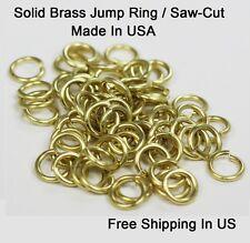 14 Ga Solid Brass Jump Ring  ( I/D 12 MM / O/D 15 MM ) Pkg. of 40 -  SAW-CUT