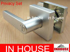 Door handles! -Privacy set-Satin chrome finished(6515SQ-SC)