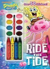 Ride the Tide SpongeBob SquarePants) Color and Paint plus Stickers)