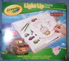 Crayola Light Up Tracing Desk Disney Pixar Cars Pictures Sheets Cards New