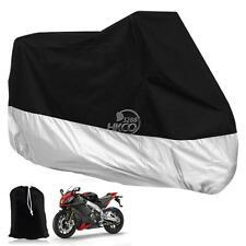 XXXL Size Motorcycle Cover Black+Silver For Honda Gold Wing GL 1200 1500 1800