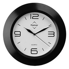 PREMIER HOUSEWARES BLACK WHITE FUNCTIONAL STYLISH HOME OFFICE MODERN WALL CLOCK