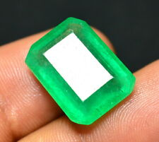 10.95 Ct. Colombia Green Emerald Cut Amazzing Natural Gemstone For Ring (NW_03)