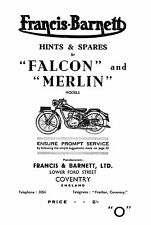 1948-1953 Francis Barnett Merlin 52 53 Falcon 54 55 hints & parts book