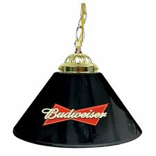 Pool Table Lamp Shade BUDWEISER Black Hanging Bar Lights Billiard Man Cave Decor