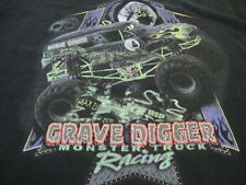 Grave Digger Monster Truck Racing Race Racecar Trucks Black T Shirt XL