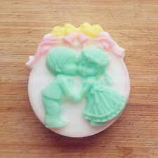 4-Cavity Love Boy Girl Angel Flower Silicone Candle Soap Molds DIY Cake Mould