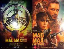 SET OF 2 RARE MAD MAX: FURY ROAD MOVIE  POSTERS 11x17 TOM HARDY, CHARLIZE THERON