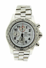 Breitling Super Avenger Diamond Chronograph Stainless Steel Watch A13370