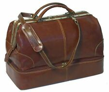 Floto Imports Luggage Positano Grande Travel Duffle Bag, Italian Leather, Brown