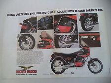 advertising Pubblicità 1984 MOTO GUZZI 1000 SP II