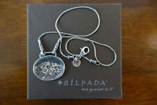 SILPADA Sterling Silver Necklace with Hammered Disk Pendant N1356 $66