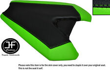 LIGHT GREEN & BLACK CUSTOM FITS KAWASAKI Z1000 14-16 REAR LEATHER SEAT COVER