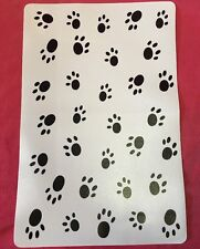 Cat Dog Feeding Placemats  Black & White Paw Prints Non Slip Place Mat 17 X 11