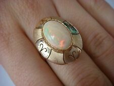EXQUISITE, 14K GOLD MULTI-COLOR OPAL LADIES RING MADE IN MEXICO 5 GR, SIZE 7.