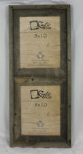 """8x10-2.5"""" Wide Reclaimed Rustic Barn Wood Collage Frame Holds 2 Photos"""