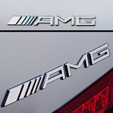 New AMG Chrome Rear Emblem Badge for Trunk A B C E S CL SL ML CLK CLS SLK CLASS