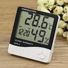 Digital LCD Indoor Thermometer Temp Meter Hygrometer Alarm Clock Temp