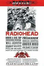 RADIOHEAD ~ FEAR STALKS THE LAND 24x36 MUSIC POSTER Notice To The Public!