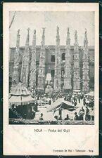 Napoli Nola Festa dei Gigli STRAPPINO cartolina QT1033