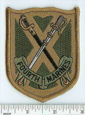USMC 4th Marine Regiment Subdued OD patch ! Fourth Marines OIF Desert Storm IRAQ