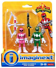 Imaginext Mighty Morphin Power Rangers - Green Ranger and Pink Ranger