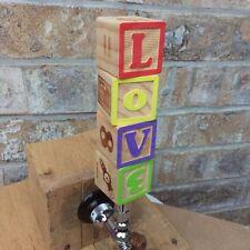 Wooden Alphabet Block Tap Handle for Beer KEG Kegerator Teachers School LOVE