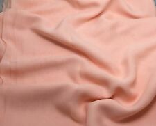 Silk CHIFFON Fabric PEACH 1/2 Yard remnant