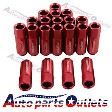 20PC JDMSPEED 60MM RED  ALUMINUM EXTENDED TUNER LUG NUTS FOR WHEEL  M12X1.5