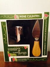WINE COUNTRY Connoisseurs collections - Stopper/cheese Knife Gift Set NIB