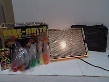 Hasbro Lite Brite 1973 In Original Box Good Working Condition LOTS OF PEGS!!!