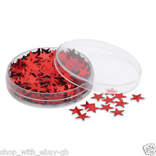 CHRISTMAS TABLE CONFETTI - SPARKLY STAR SPRINKLES - GOLD or RED Decoration