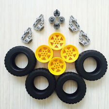 Lego Technic 4x[Wheels/Rims(15038) Tyres(92912) Snaps(92909) Gear Blocks(92908)]