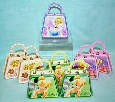 Lot 8 Mini TINS Purse Party COLLECT Disney Cinderella HELLO Kitty TINKERBELL New