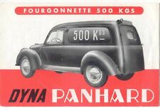 Panhard Dyna Estate & Van Early 1950s Original FRENCH Foldout Sales Brochure