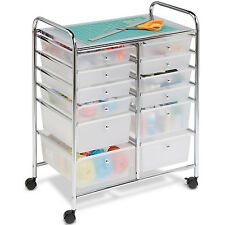 Rolling Mobile Cart Drawer Organizer Storage Art Craft Office School Supplies US