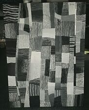 30x40 Black and White Abstract Painting Michigan Art on Canvas