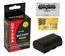 LP-E6 Lithium Battery for Canon EOS 70D 6D 7D 5D 60Da 60D 3347B001 LPE6 2600 mAh