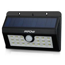 Mpow 20 LED Solar Powered Security Motion Sensor Light Outdoor Wall Garden Lamps